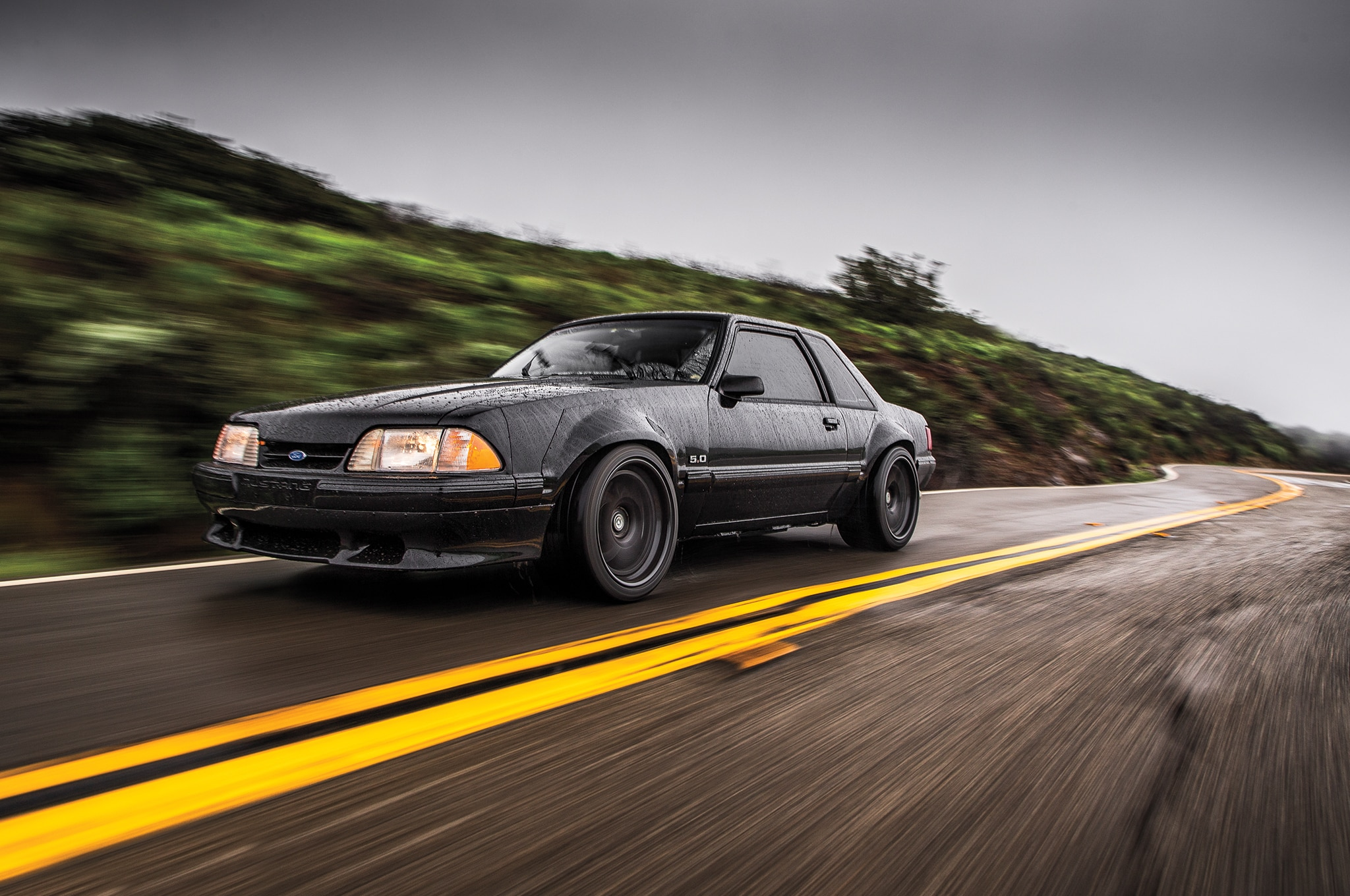 1988 Ford Mustang LX 5 0 SSP Front Three Quarter In Motion