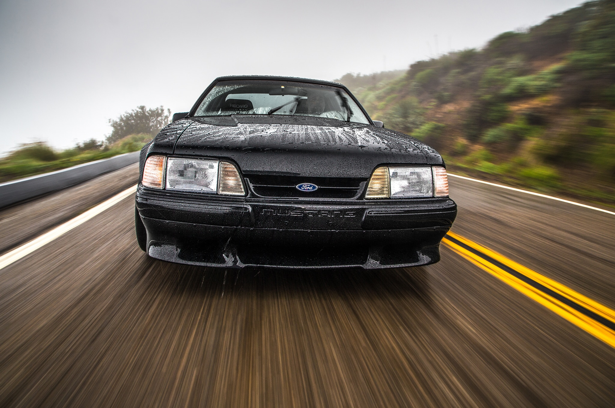 1988 Ford Mustang LX 5 0 SSP Front View In Motion 01