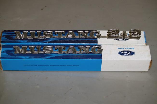 Vintage Mustang 2 2 Emblem Install 001