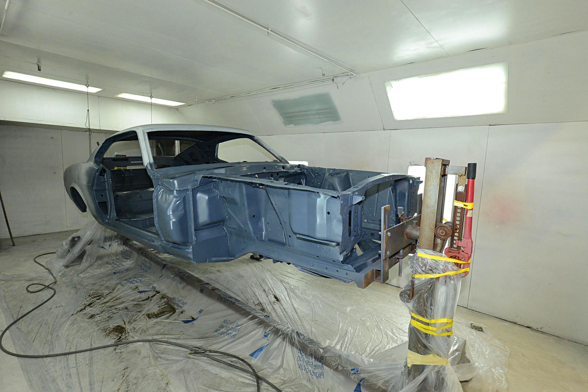 Vintage Mustang Rotisserie Restoration 029