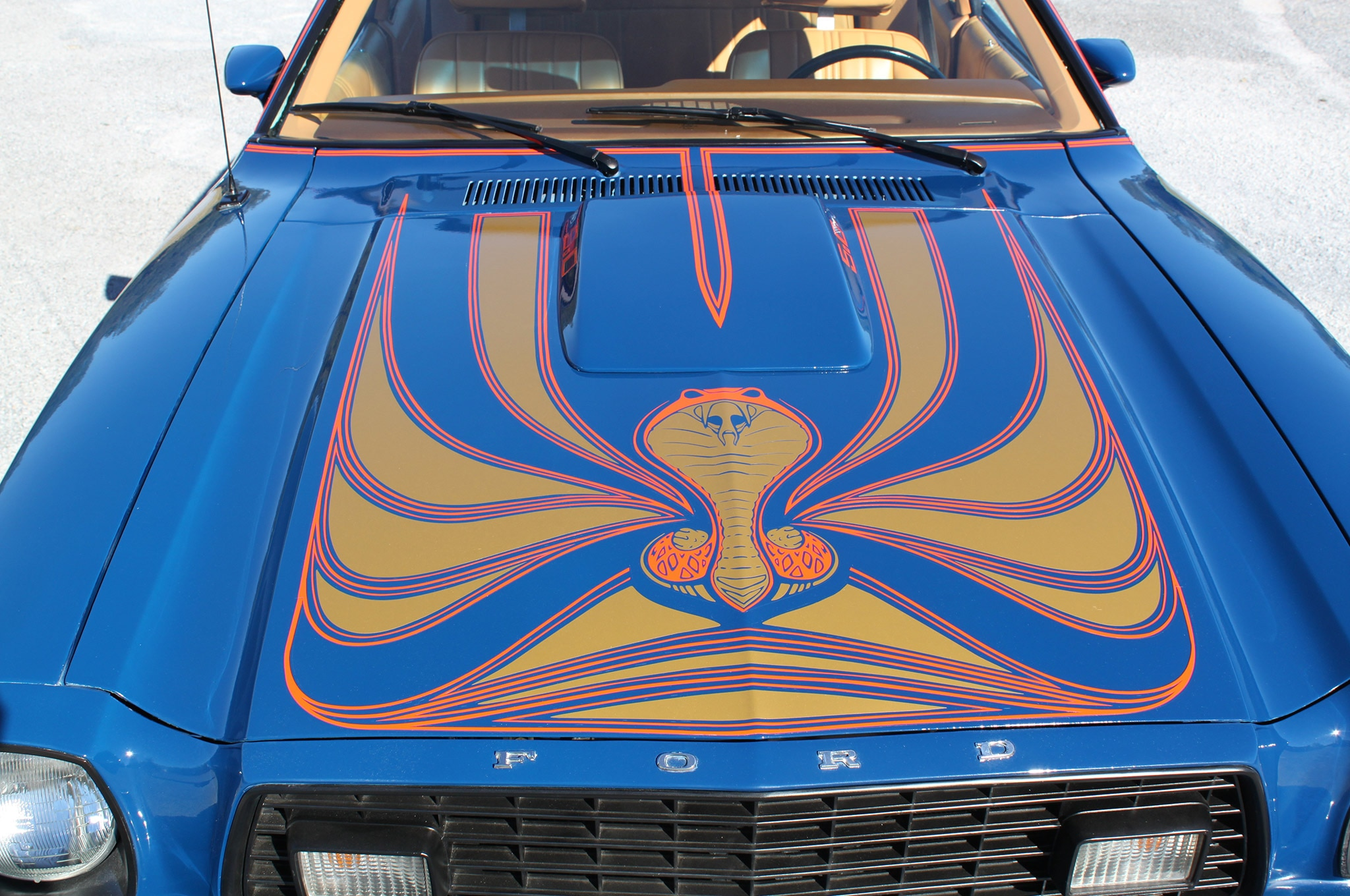Bobby Aldrich 1978 Mustang II Hood