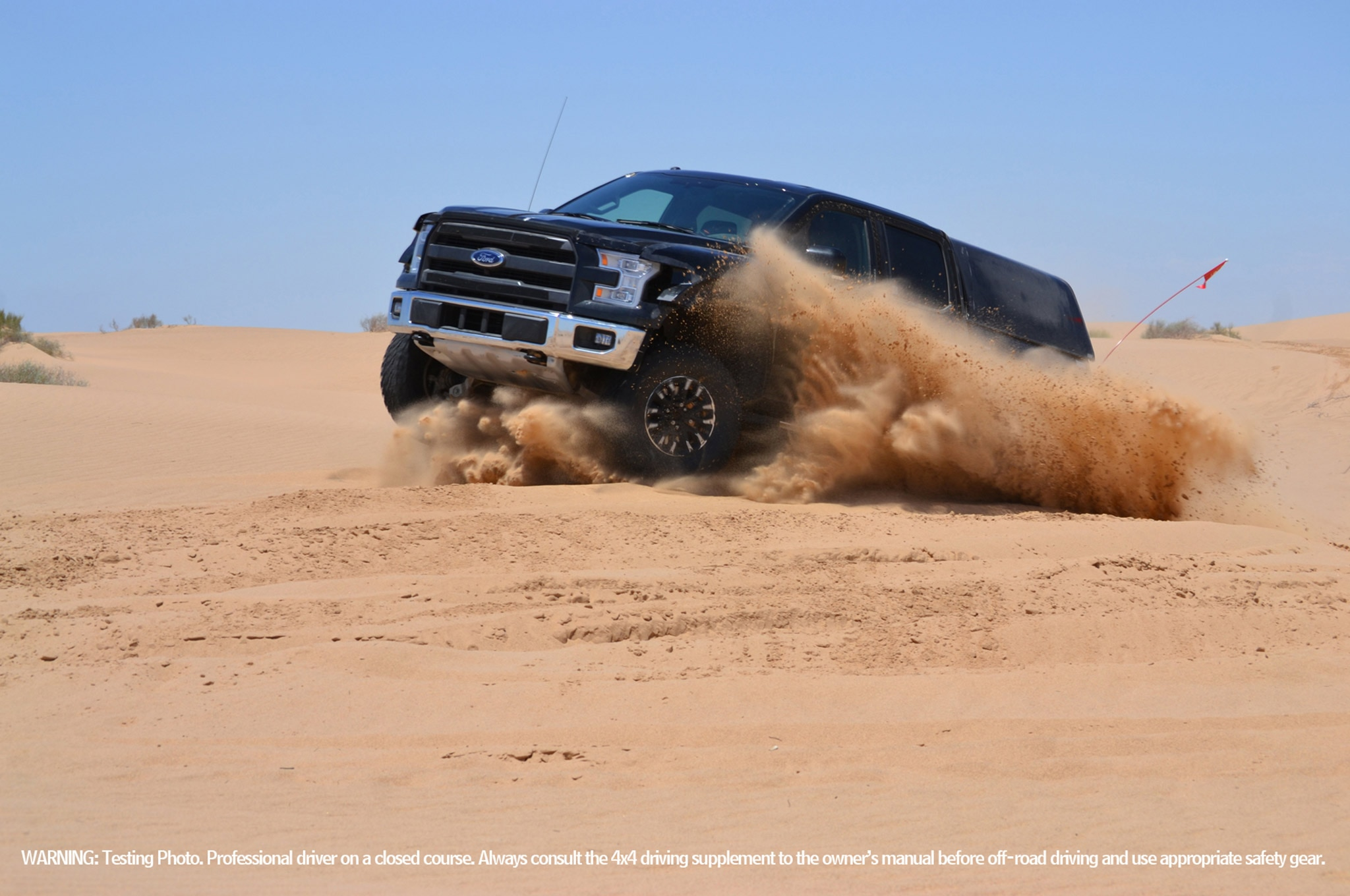 2017 Ford F 150 Raptor Prototype Sand Kicking Up
