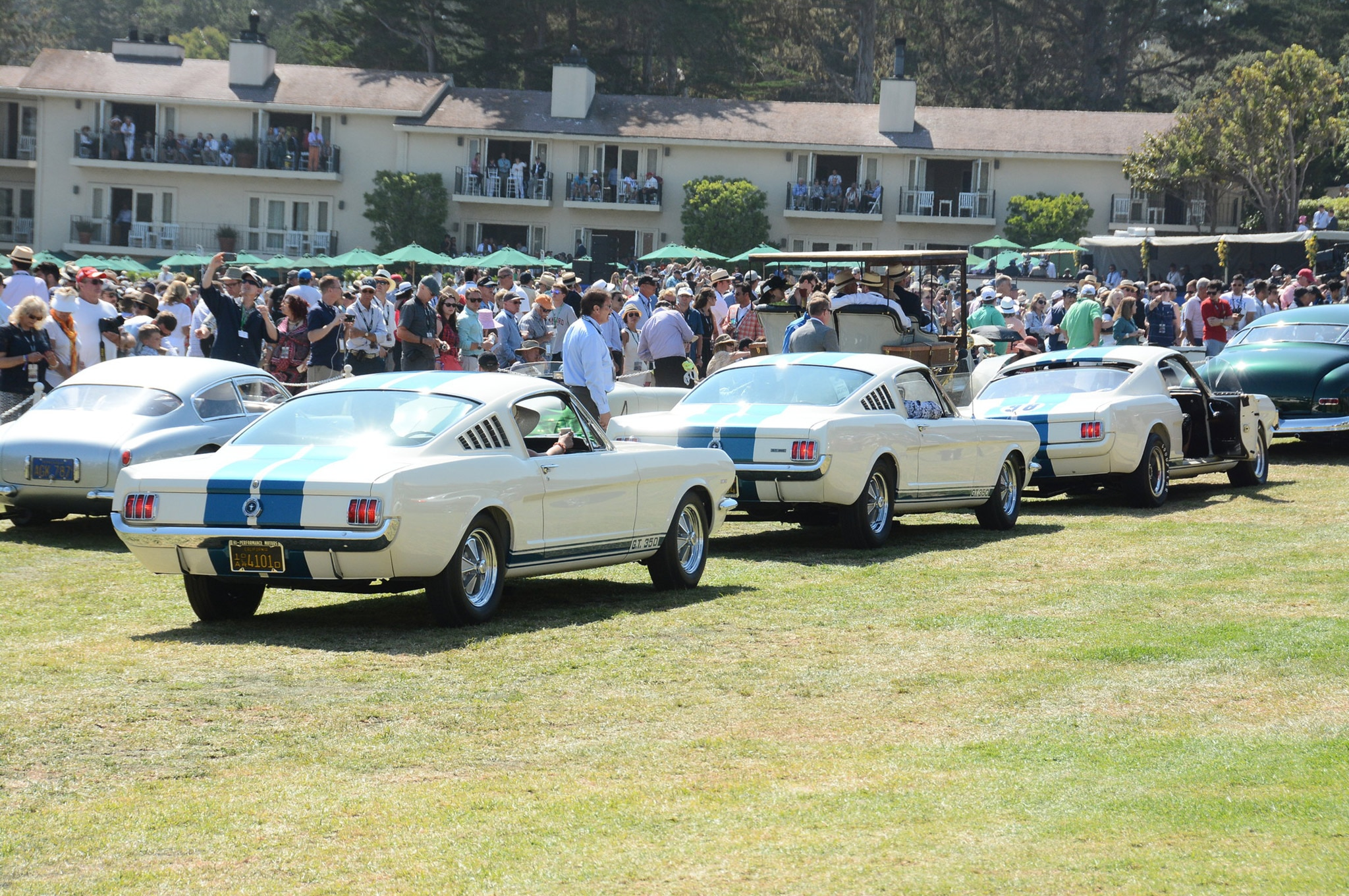 2015 Pebble Beach Concours Ford Mustangs Trio