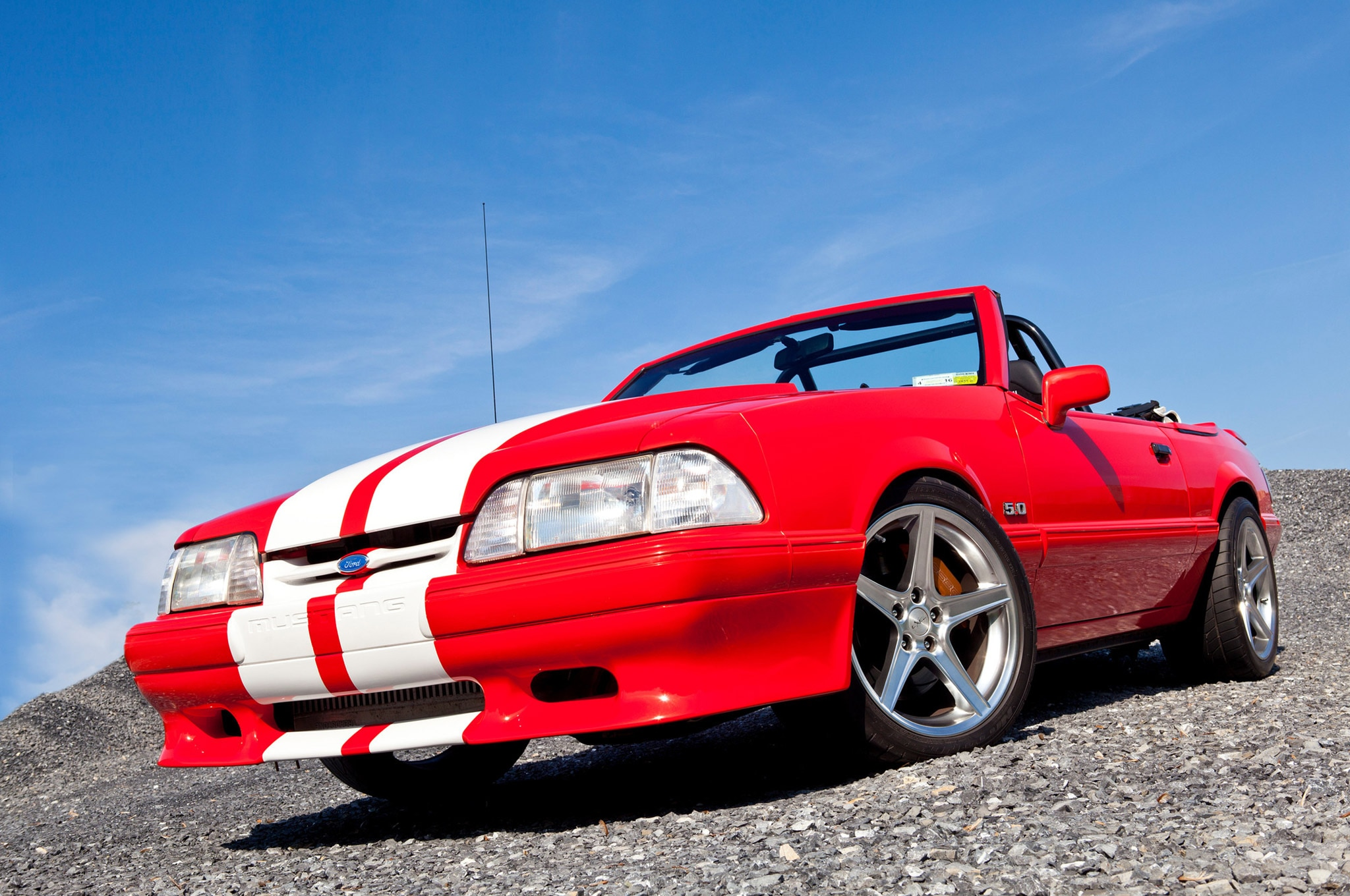 1992 Ford Mustang Convertible Red White Stripes Egeland 27 Grille
