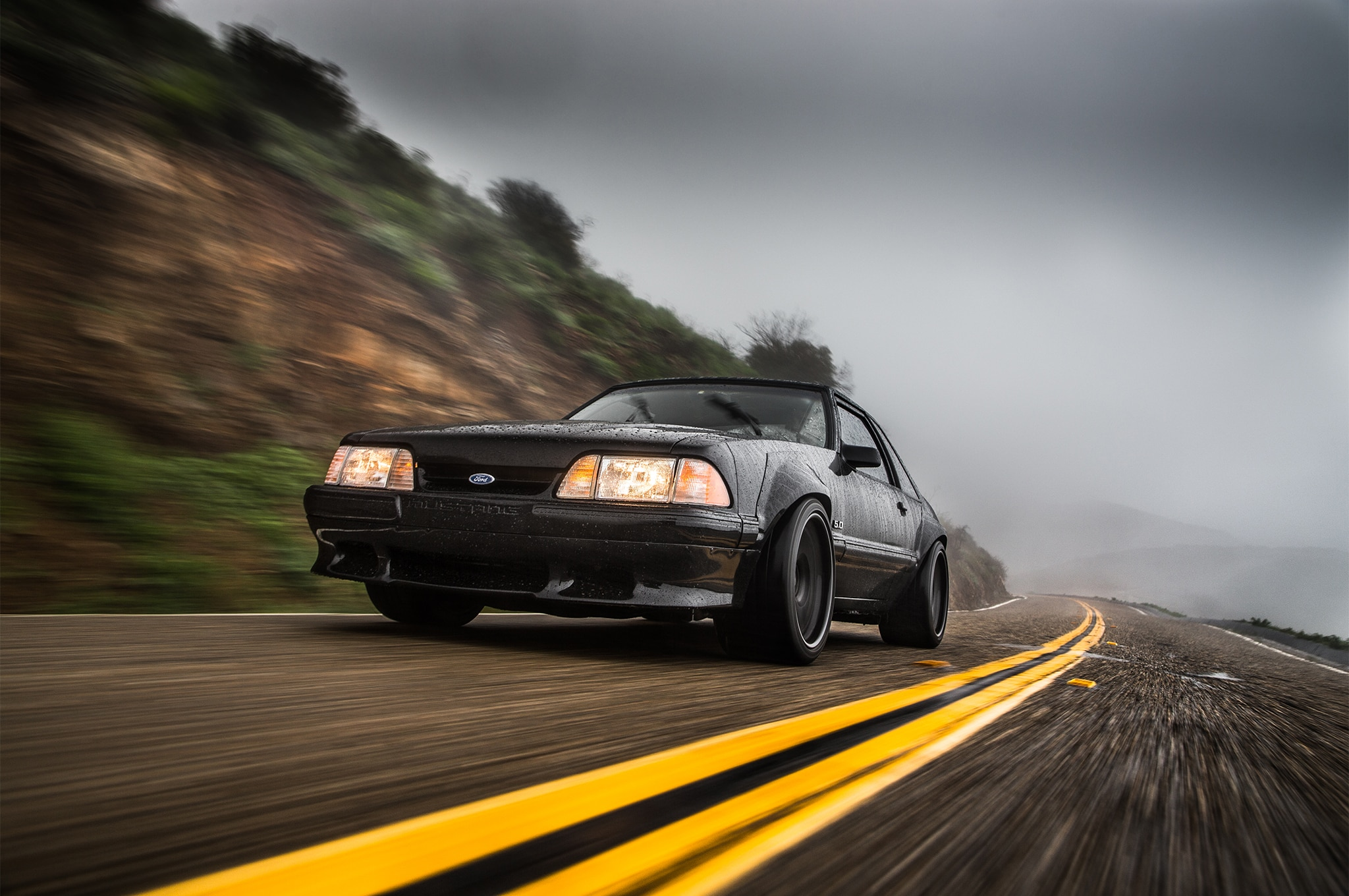 1988 Ford Mustang LX 5 0 SSP Front Three Quarter In Motion 02
