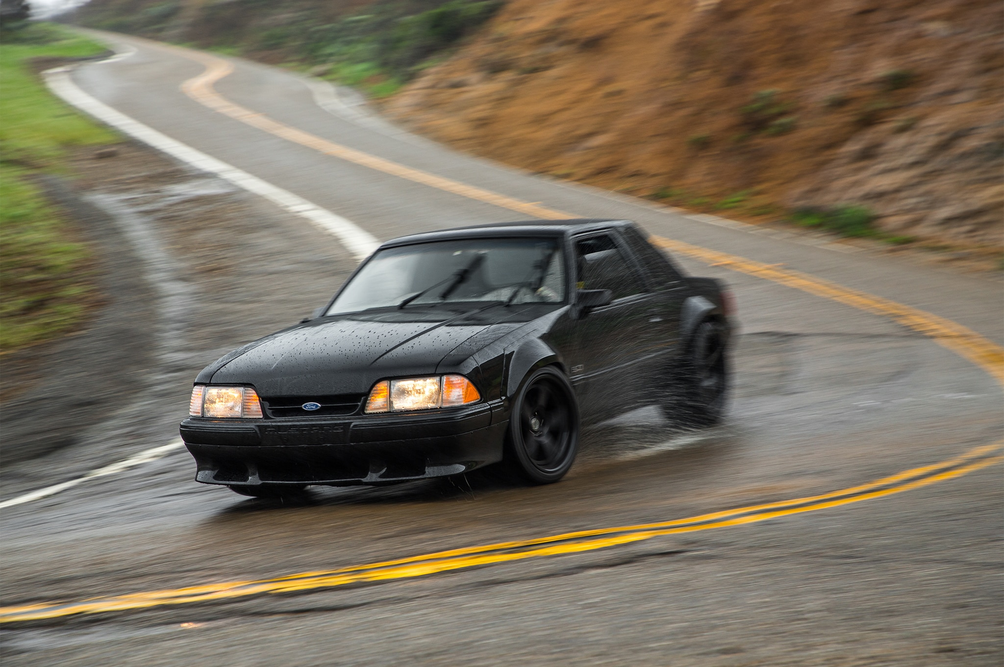 1988 Ford Mustang LX 5 0 SSP Front Three Quarter In Motion 03