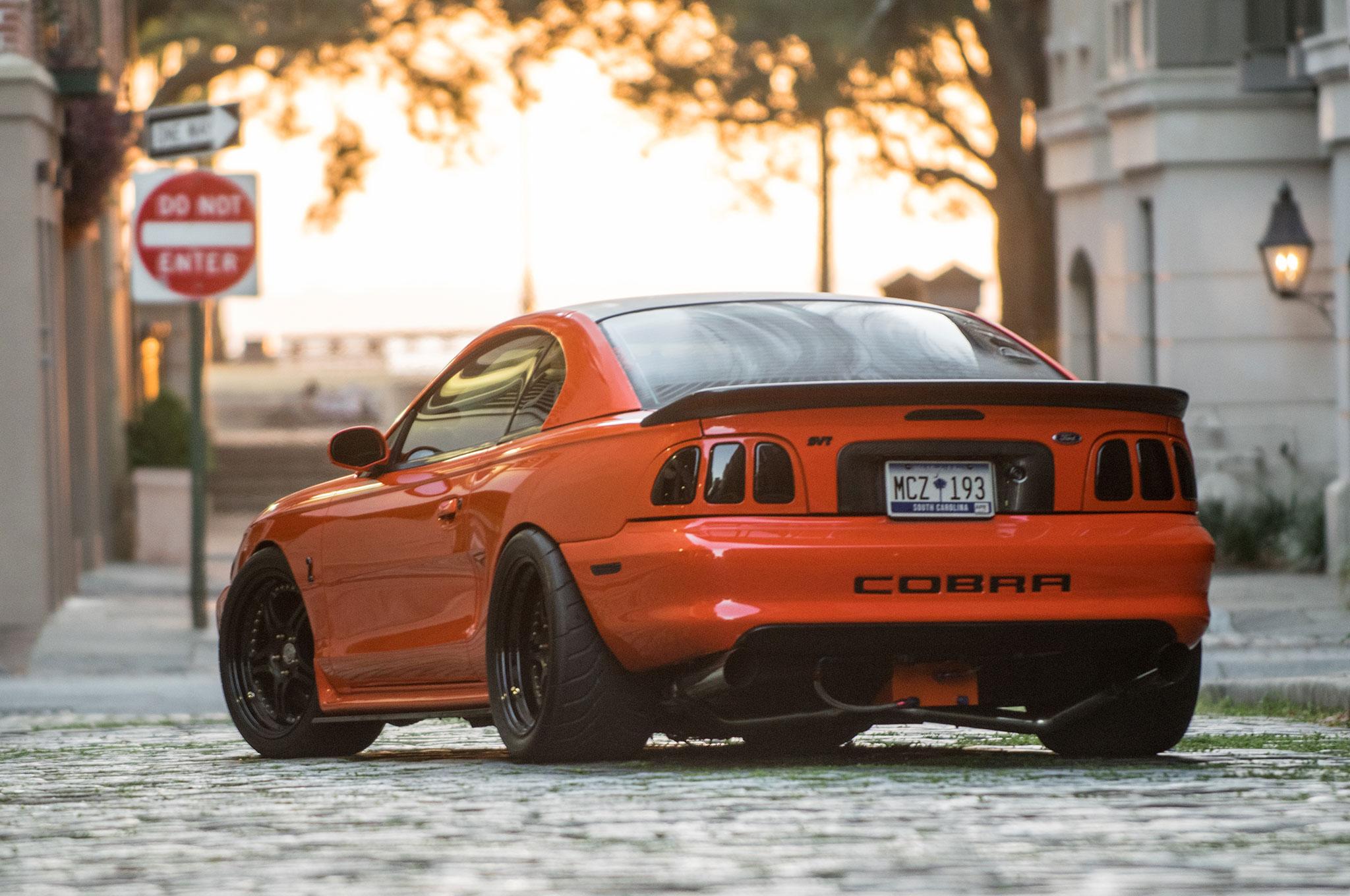 1998 ford mustang cobra rear photo 139592332 hugger orange 1998