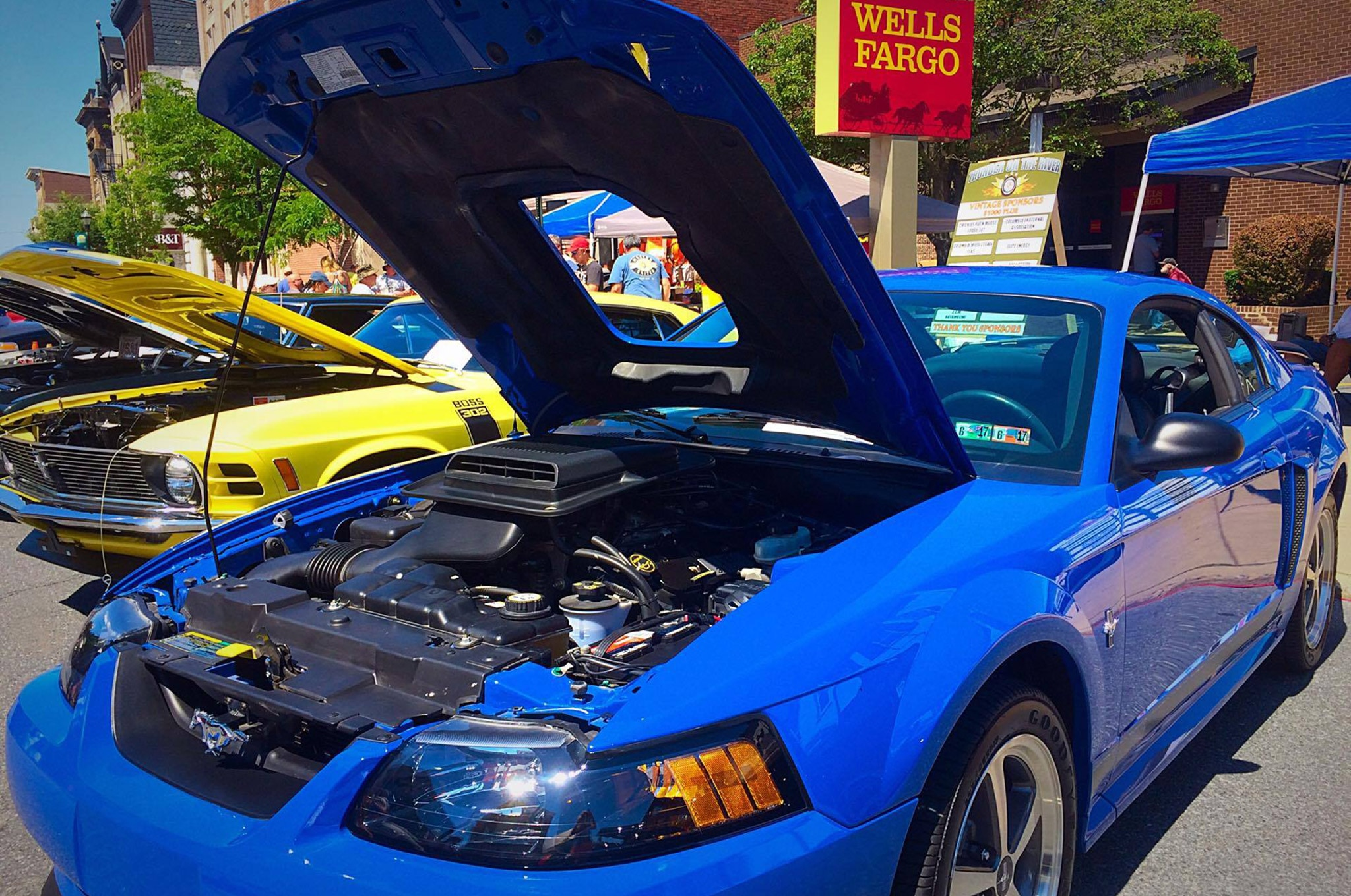 2003 Ford Mustang Mach 1 Azure Blue 017 Photo 140342569 Mustang Girl Monday Carlee Shoemaker And Her 2003 Mach 1
