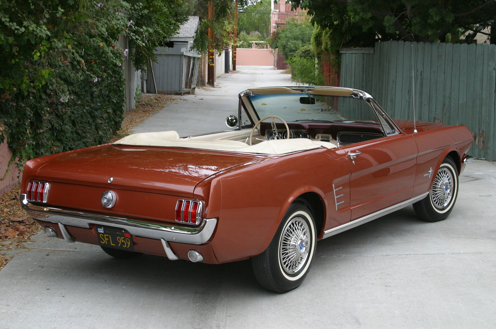 1966 Ford Mustang Six Cylinder Belair Rear Quarter
