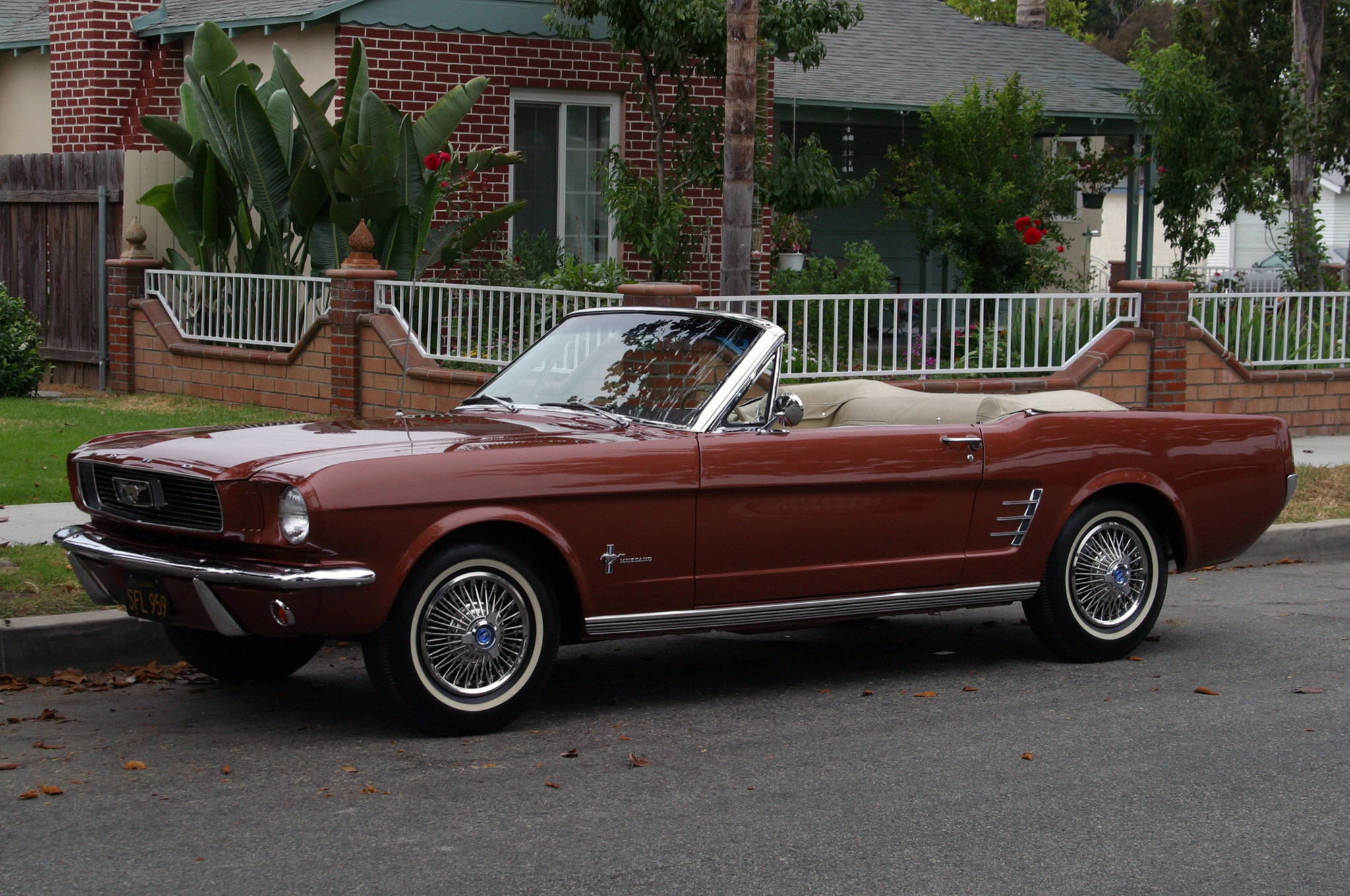 1966 Ford Mustang Six Cylinder Belair Front Quarter