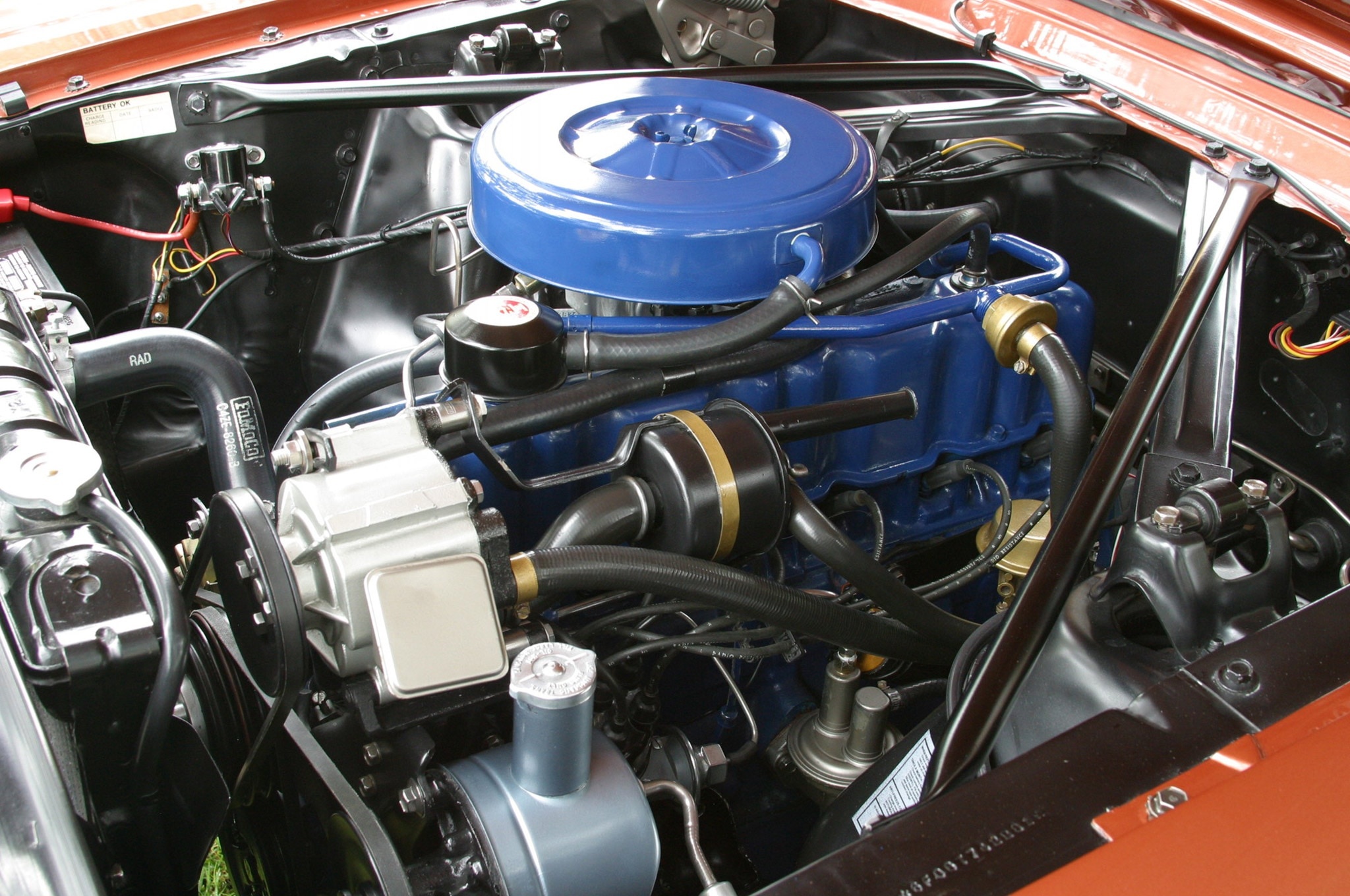 1966 Ford Mustang Six Cylinder Belair Engine Side