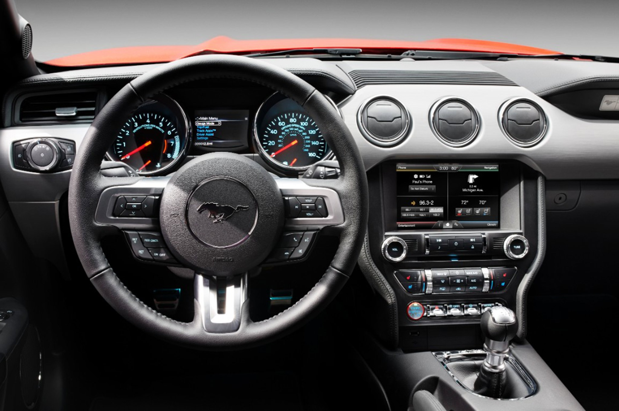 Ford Mustang Steering Wheel Evolution 2015