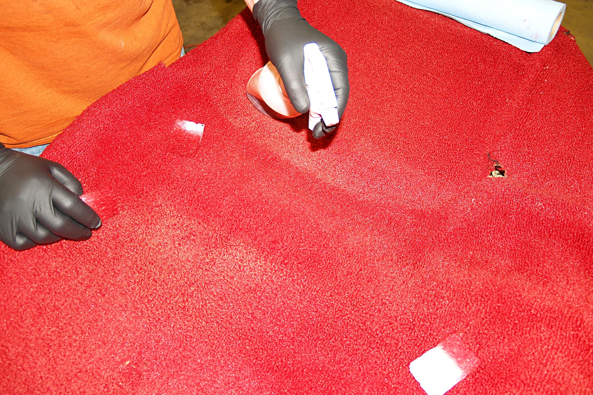How To Dye Vintage Mustang Carpet 006