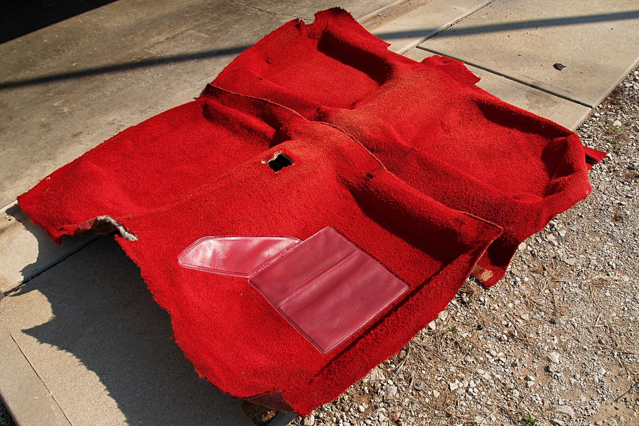 How To Dye Vintage Mustang Carpet 004