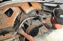 1965 Ford Mustang Project Road Warrior Quarter Panel Rust Repair 15