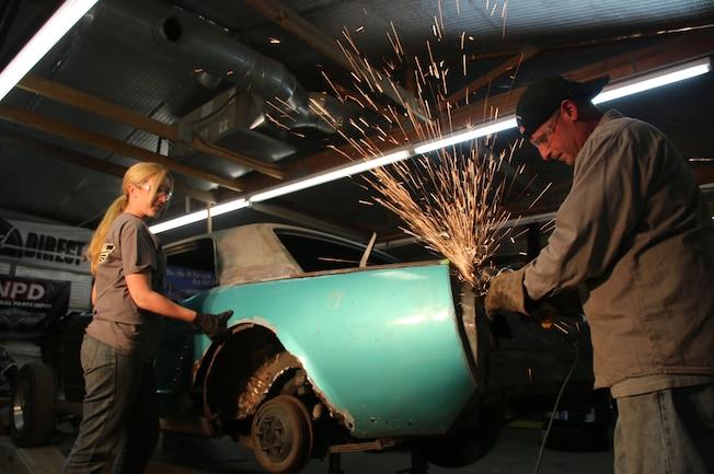 1965 Ford Mustang Project Road Warrior Quarter Panel Rust Repair 01