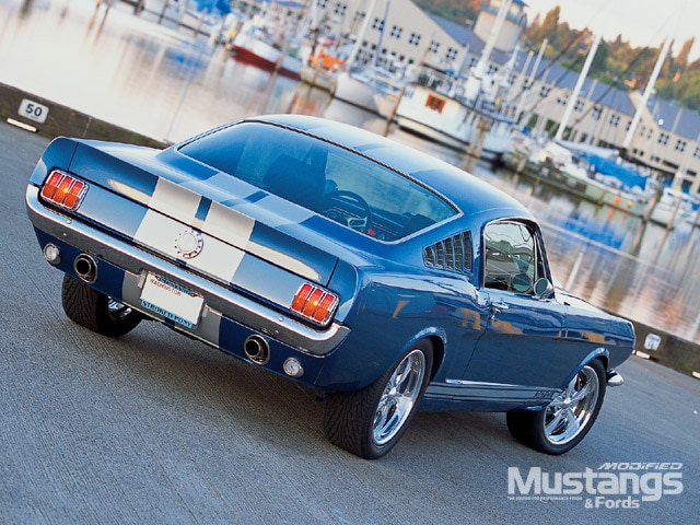 1966 Mustang Fastback Backview