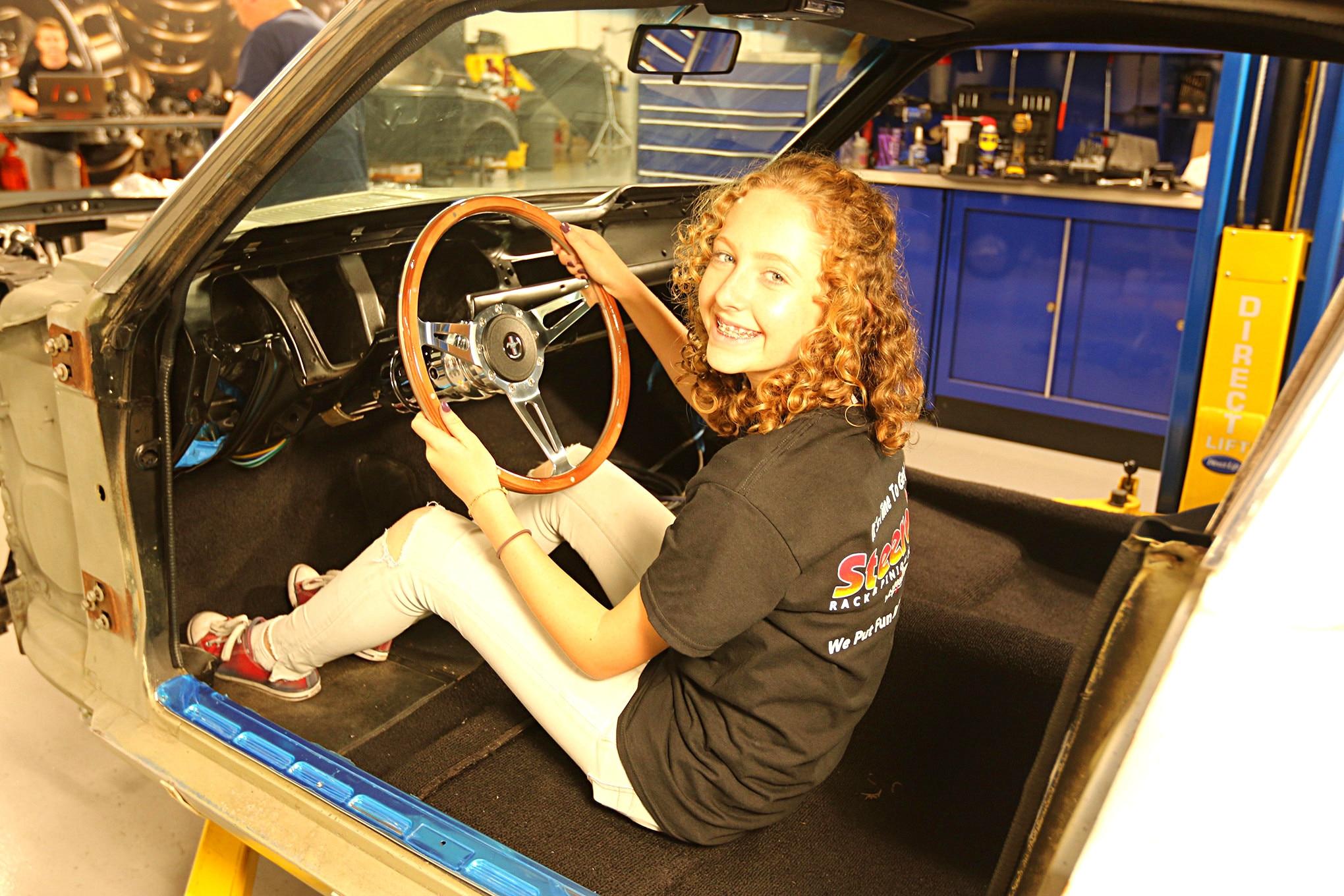 021 Frankie Waters 1967 Ford Mustang Steering Coilover Lecarra Steering Wheel