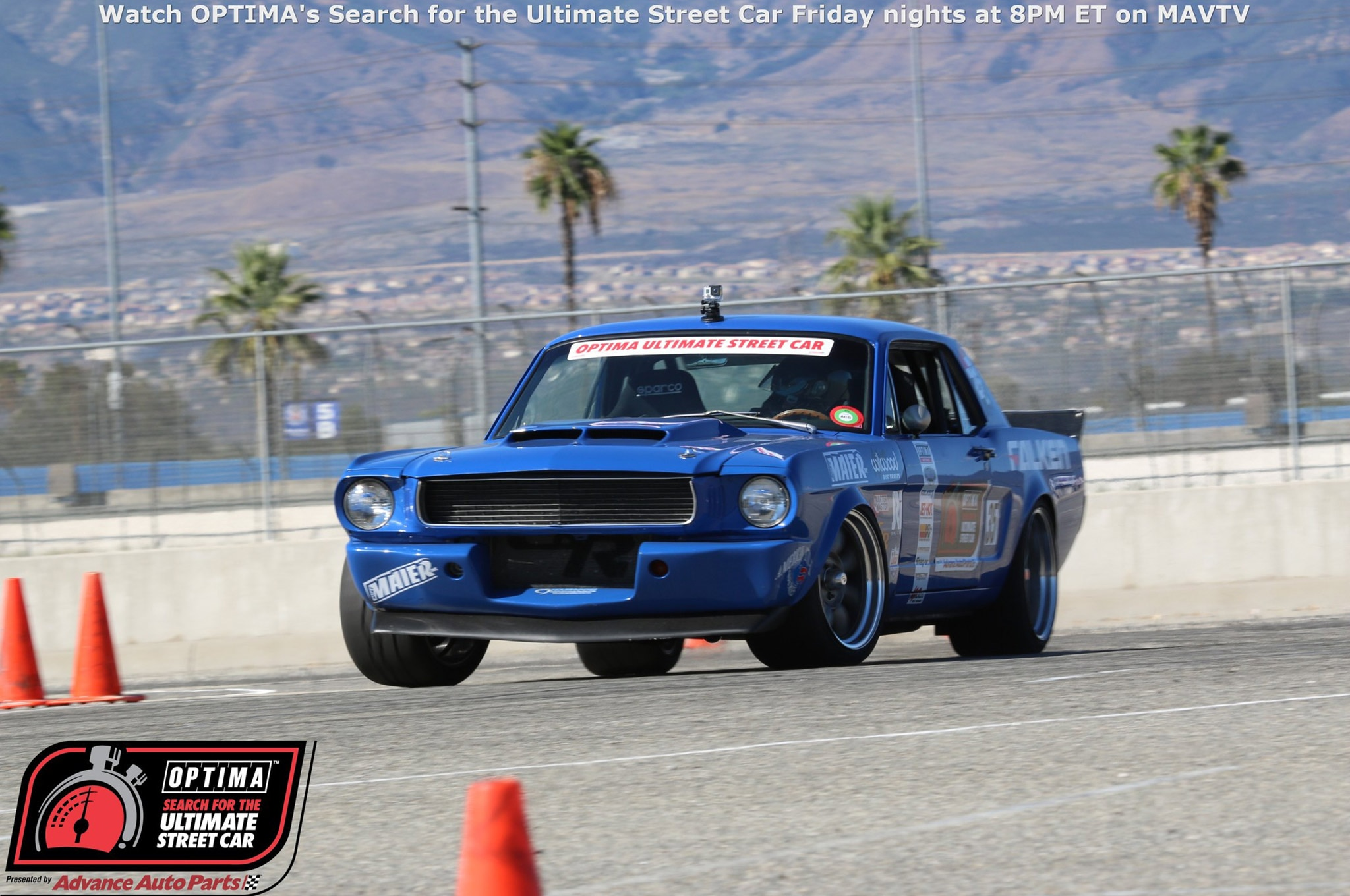 Mike Maier 1966 Ford Mustang Drive OPTIMA Fontana 2015 1005