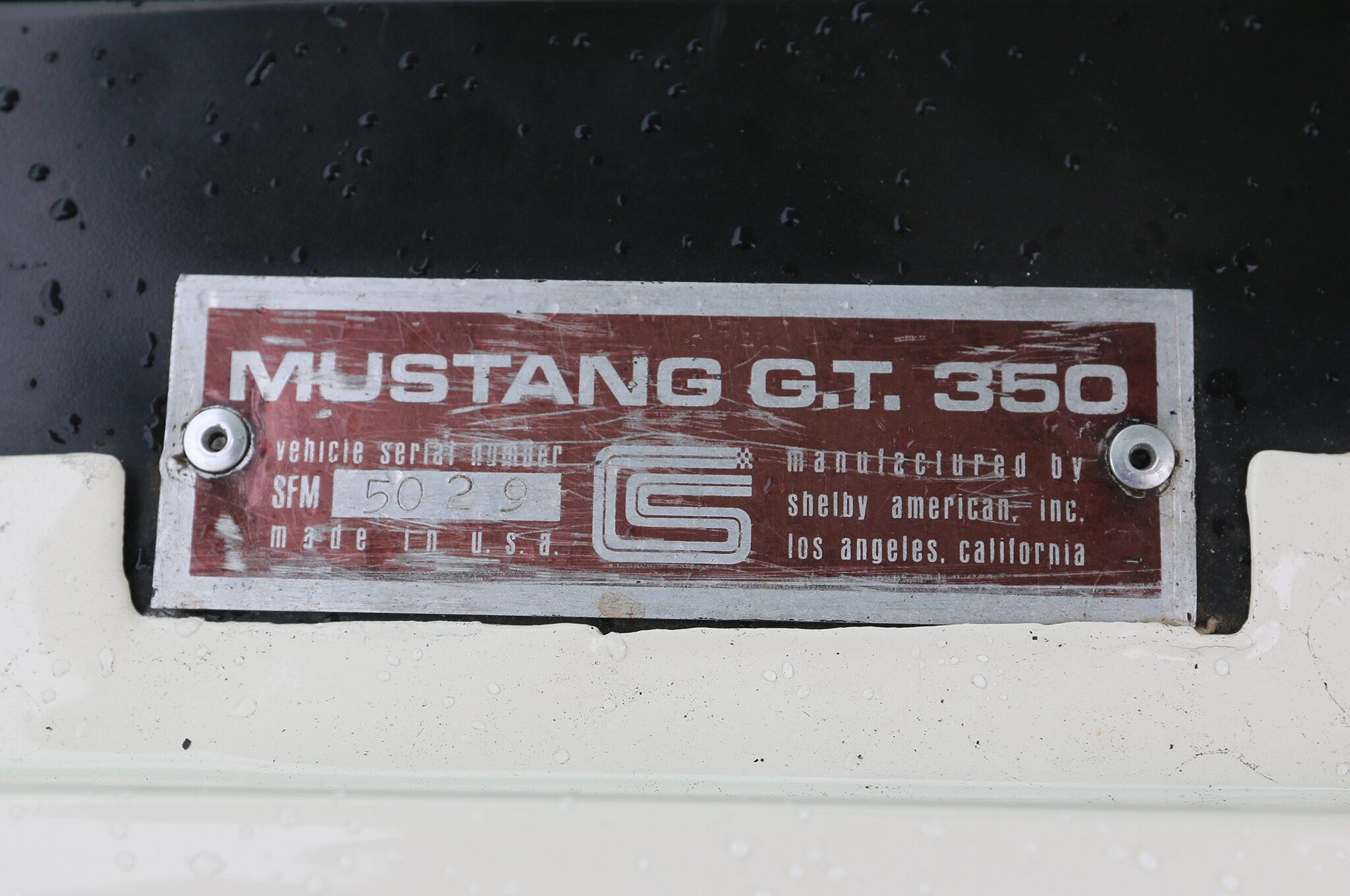 1966 ford mustang vin number
