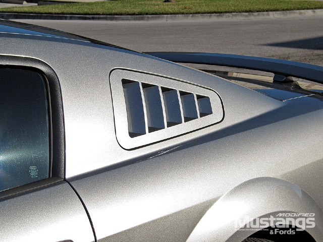 S197 Ford Mustang Installed Louver