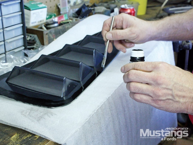 S197 Ford Mustang Apply Adhesive