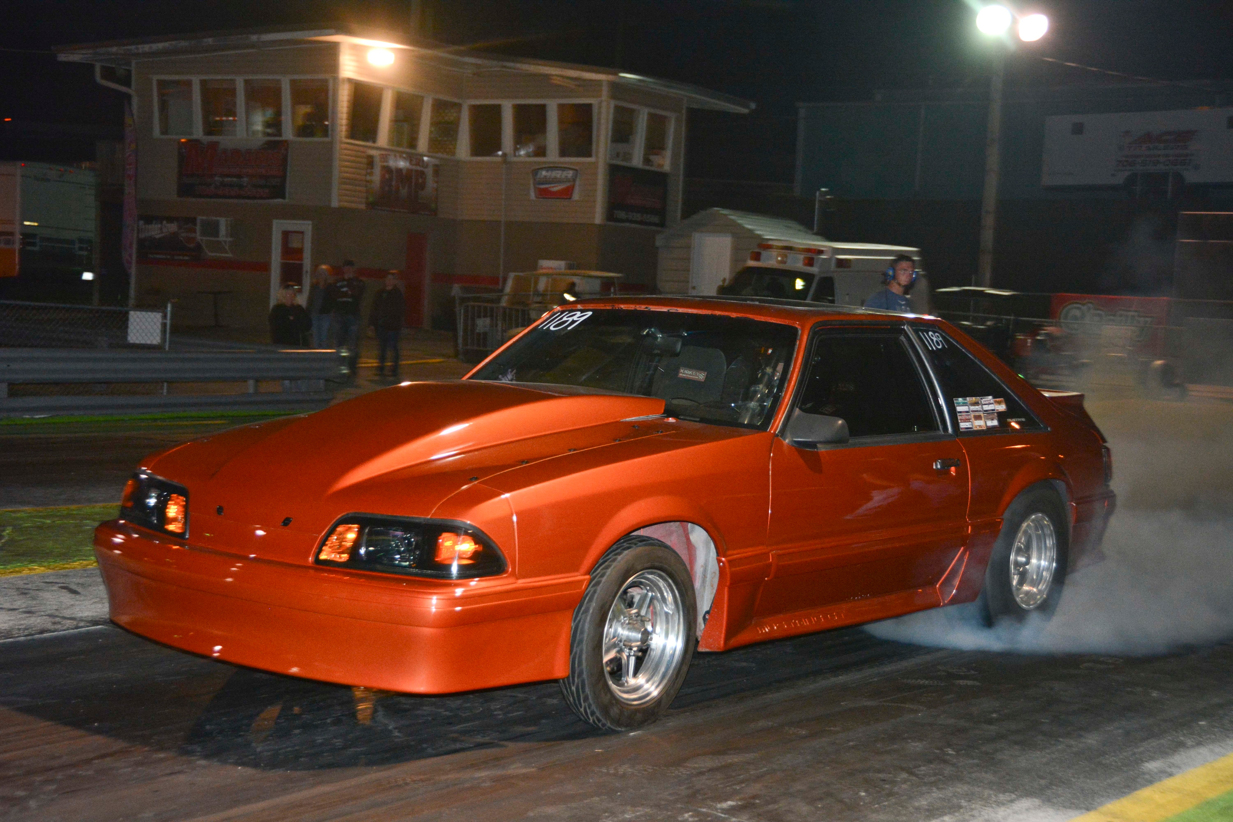 036 Orange Procharged Mustang Action