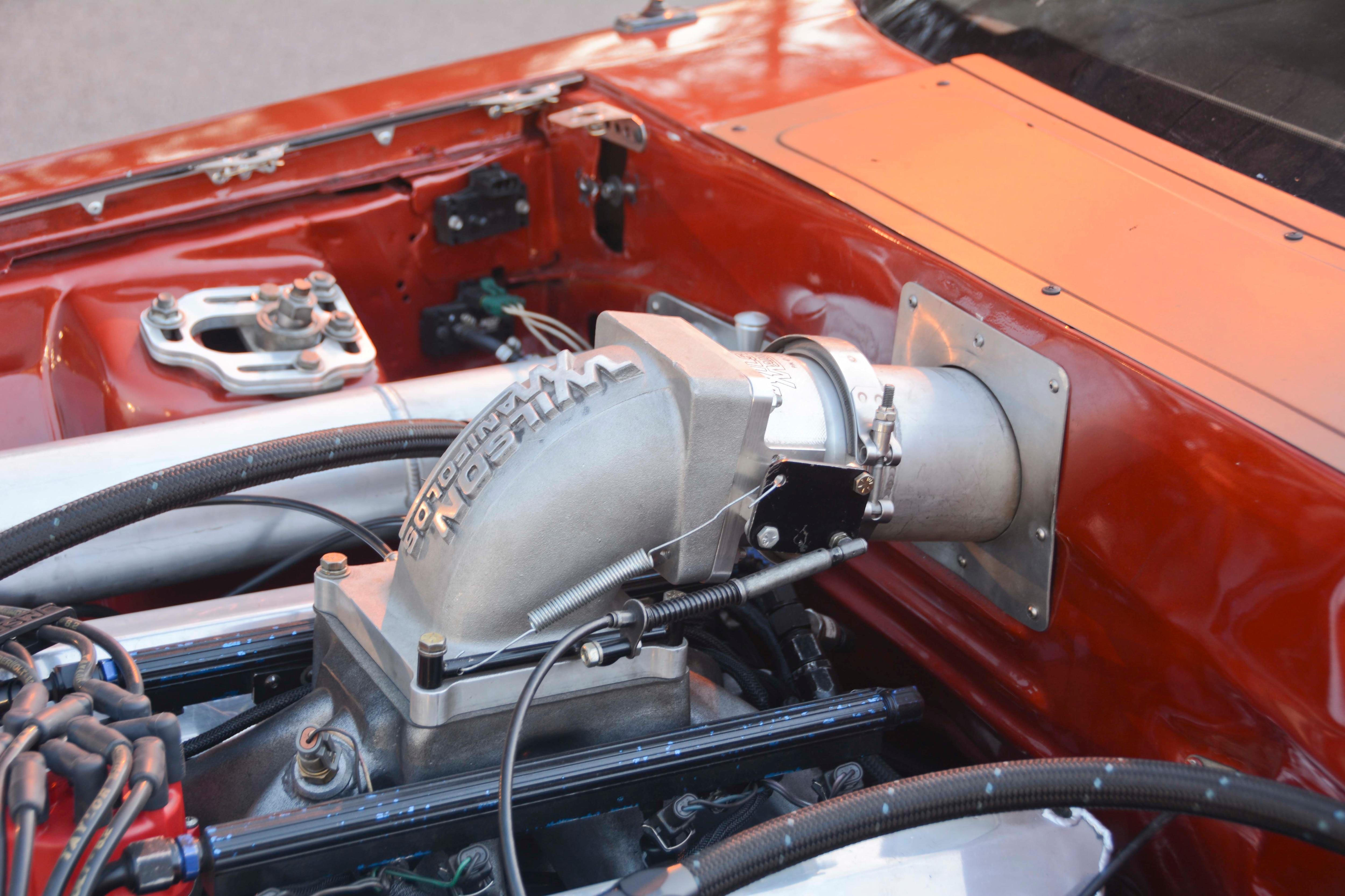 022 Orange Procharged Mustang Details