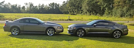 Blue Oval Family Fun: 2001 and 2017 Mustang GTs