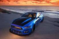 2015 Ford Mustang Blue Chrome Soto 44 Headlights