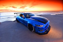 2015 Ford Mustang Blue Chrome Soto 42