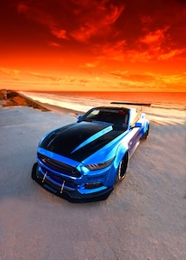 2015 Ford Mustang Blue Chrome Soto 30