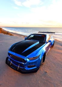 2015 Ford Mustang Blue Chrome Soto 29