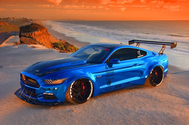 2015 Ford Mustang Blue Chrome Soto 25