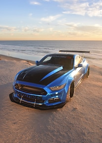 2015 Ford Mustang Blue Chrome Soto 21
