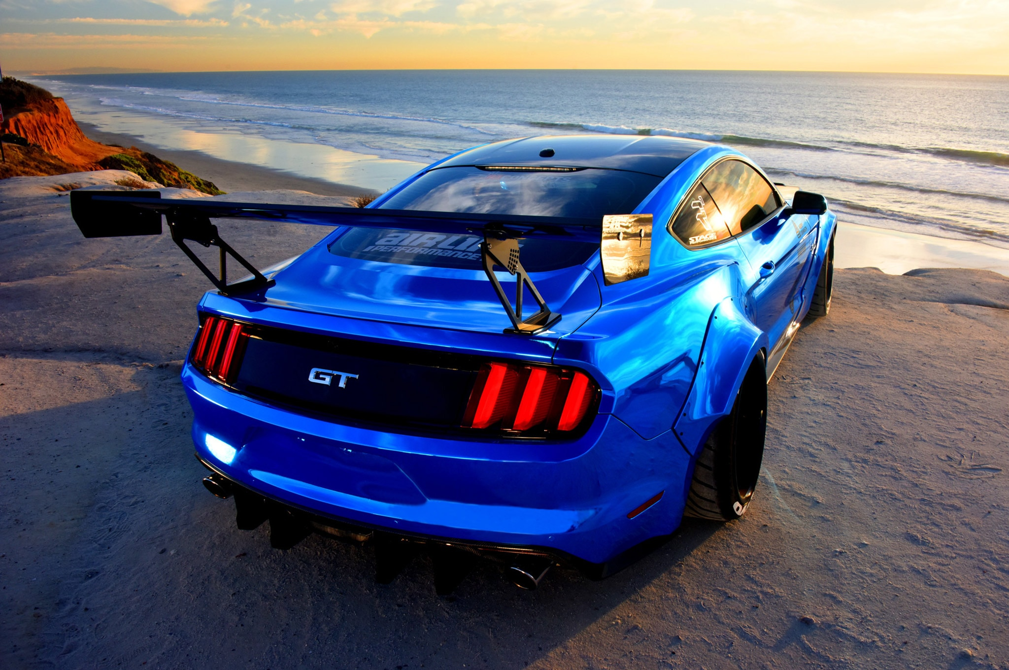 2015 Ford Mustang Blue Chrome Soto 10