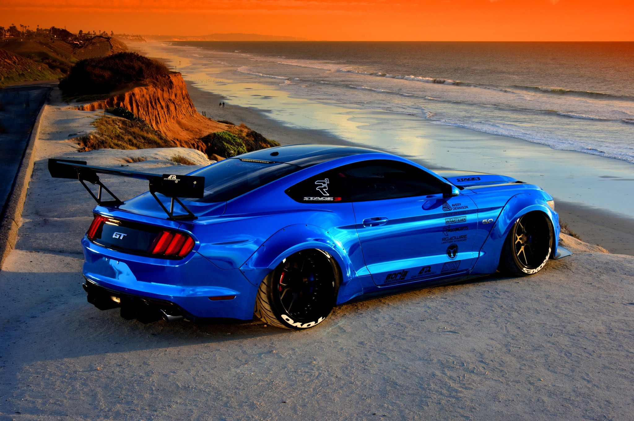 2015 Ford Mustang Blue Chrome Soto 06
