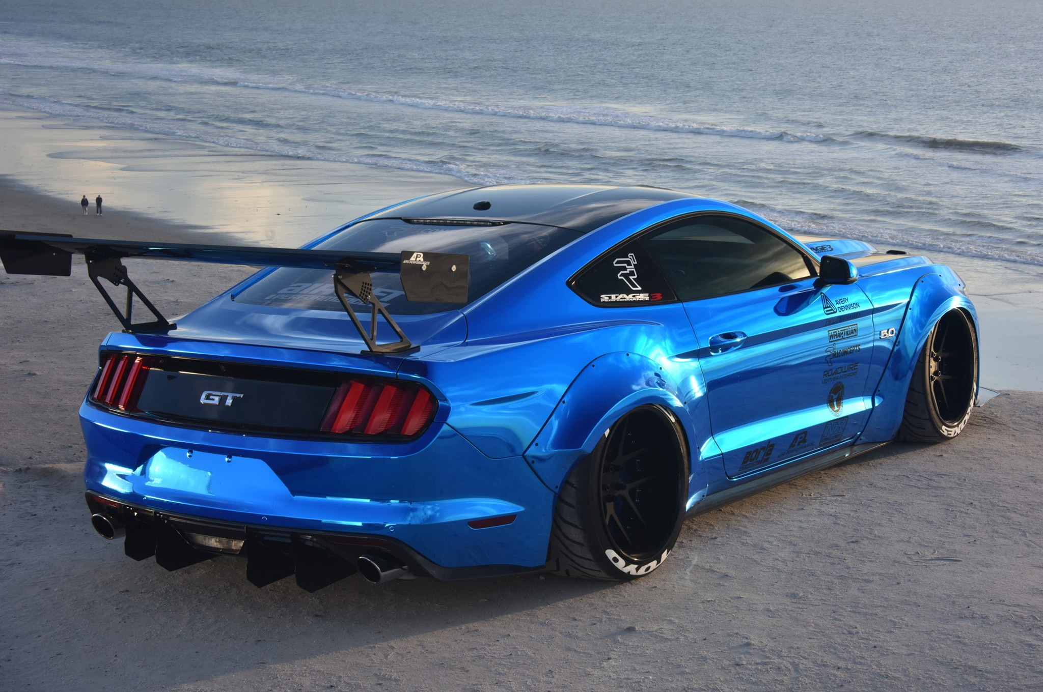 2015 Ford Mustang Blue Chrome Soto 04