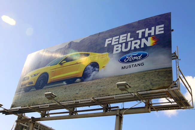 001 2016 Ford Billboard Ad Campaigns Smoking Tires