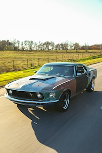 024 1970 Mustang Muscle Rat Rod Sunset Driving