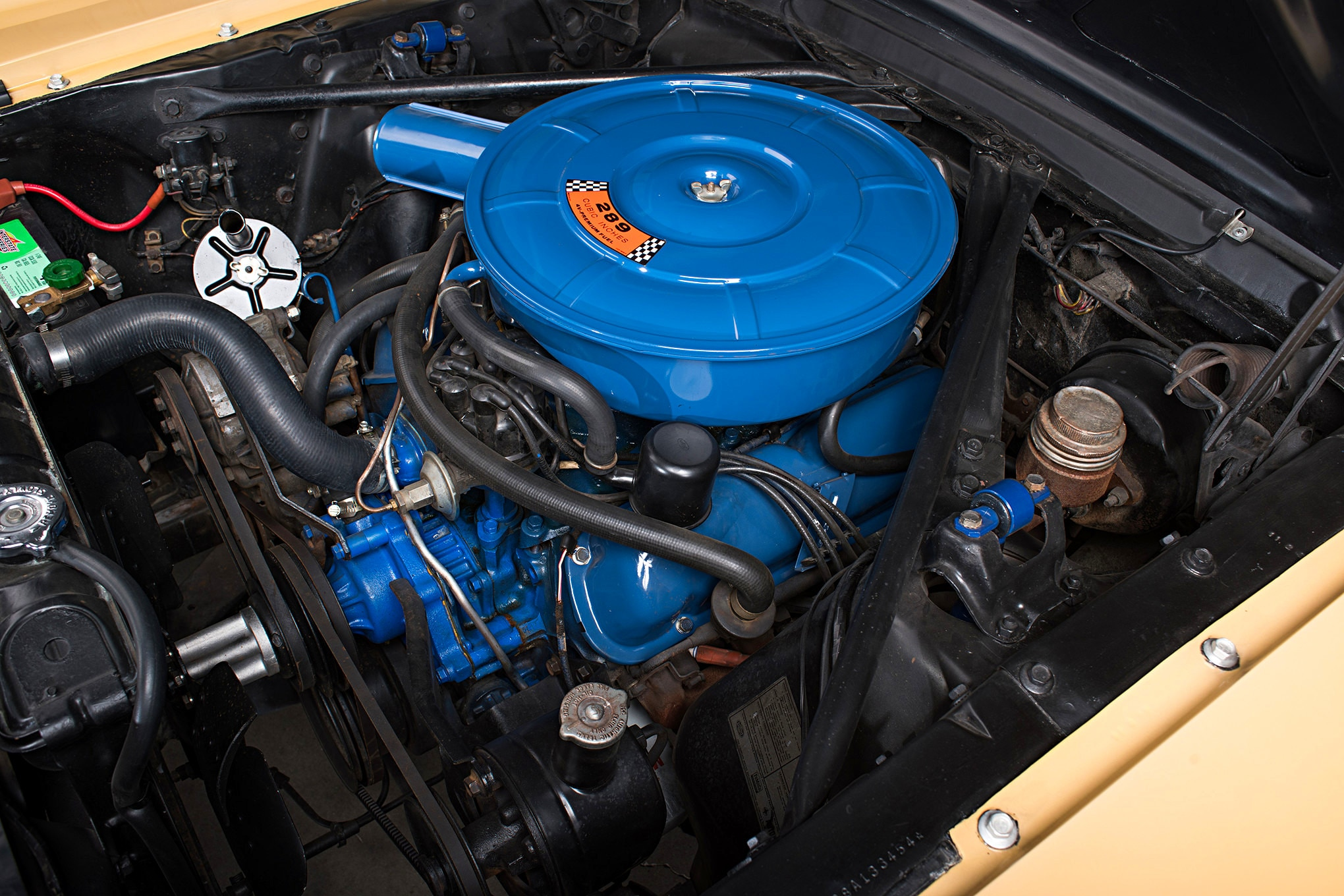 Sonny Cher Ford Mustang Engine View His