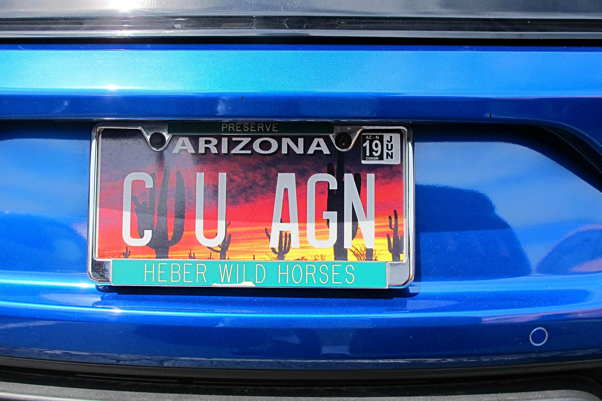 Mustang Week 2018 Vanity Plates 54