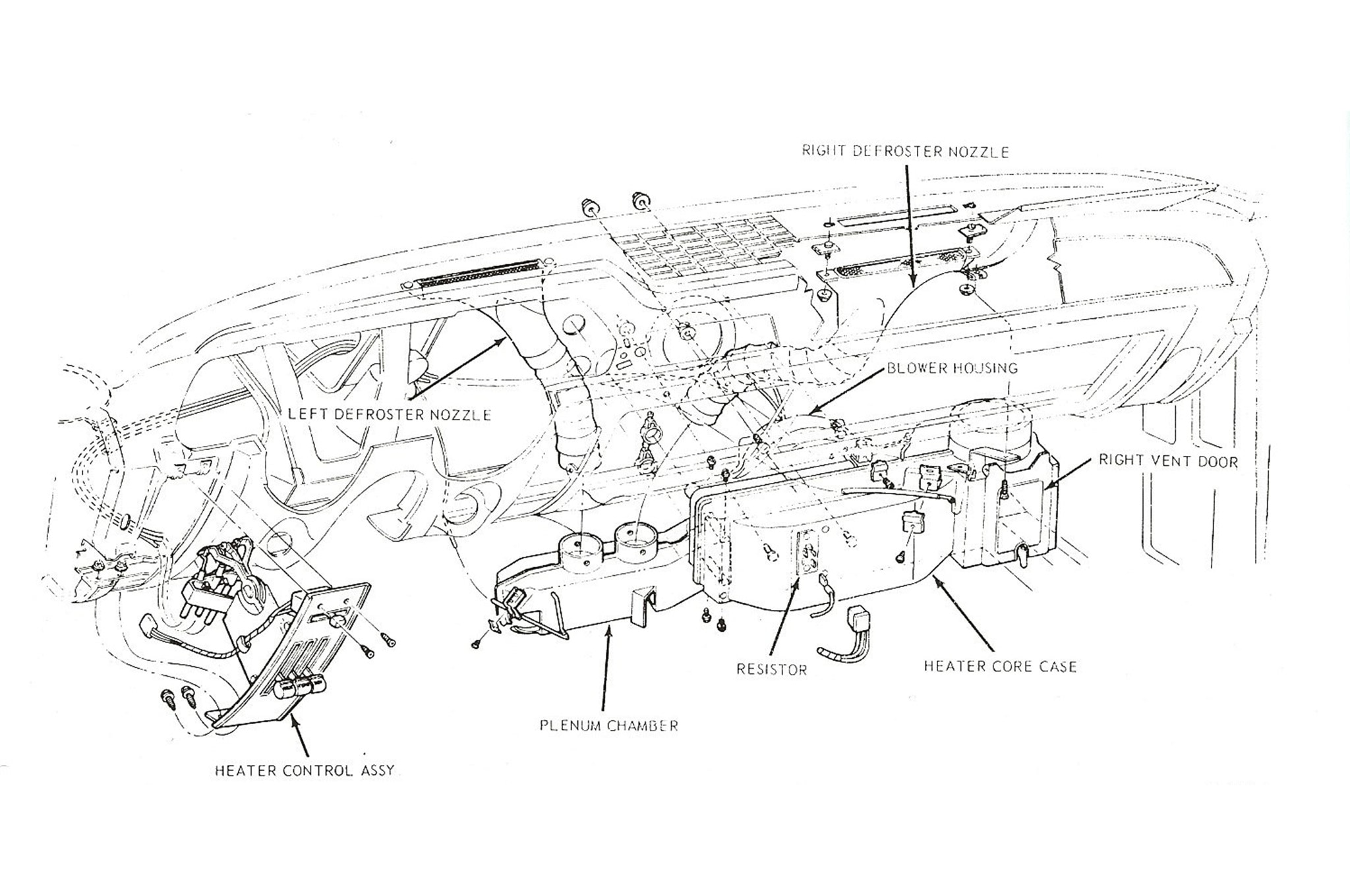 Classic Ford Mustang Heating Defrosting Diagram 01