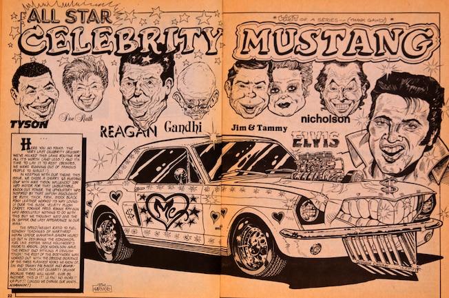 Cartoons February 1989 Mustangs Spread