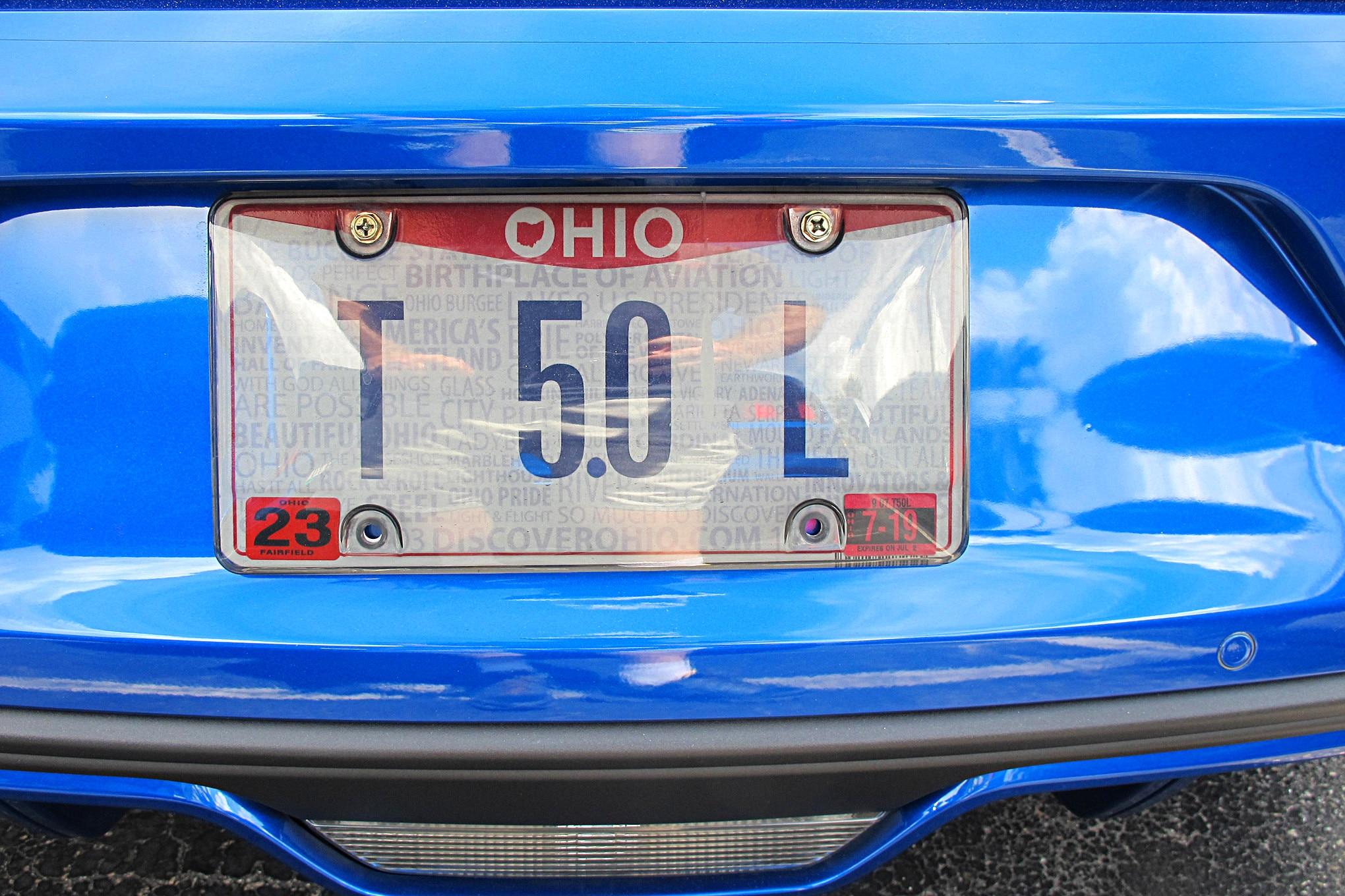 Mustang Week 2018 Vanity Plates 124
