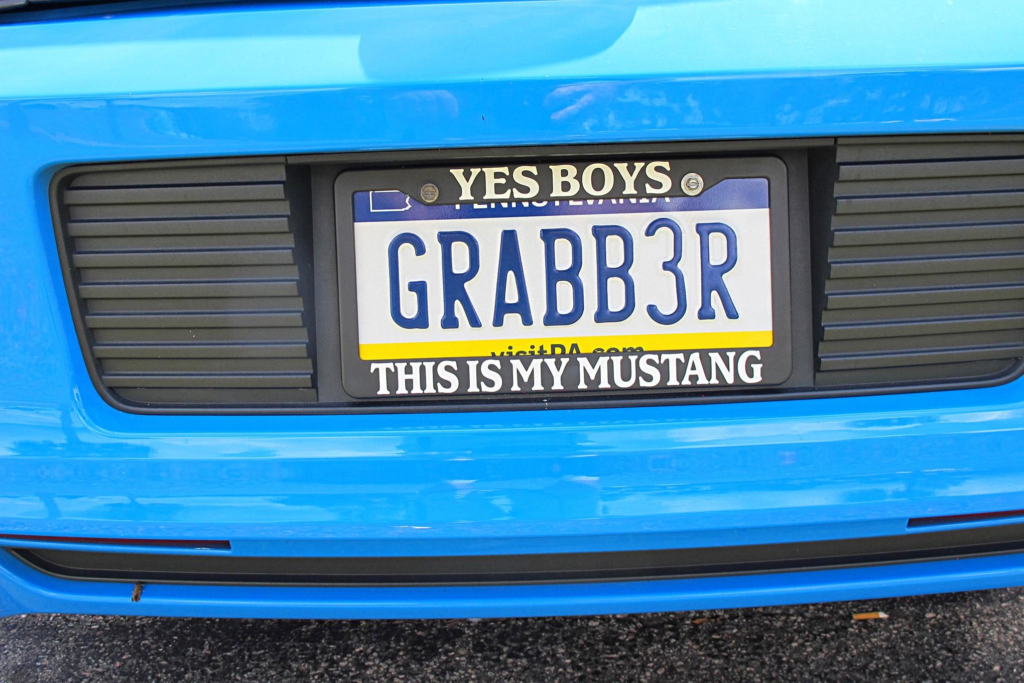 Mustang Week 2018 Vanity Plates 109