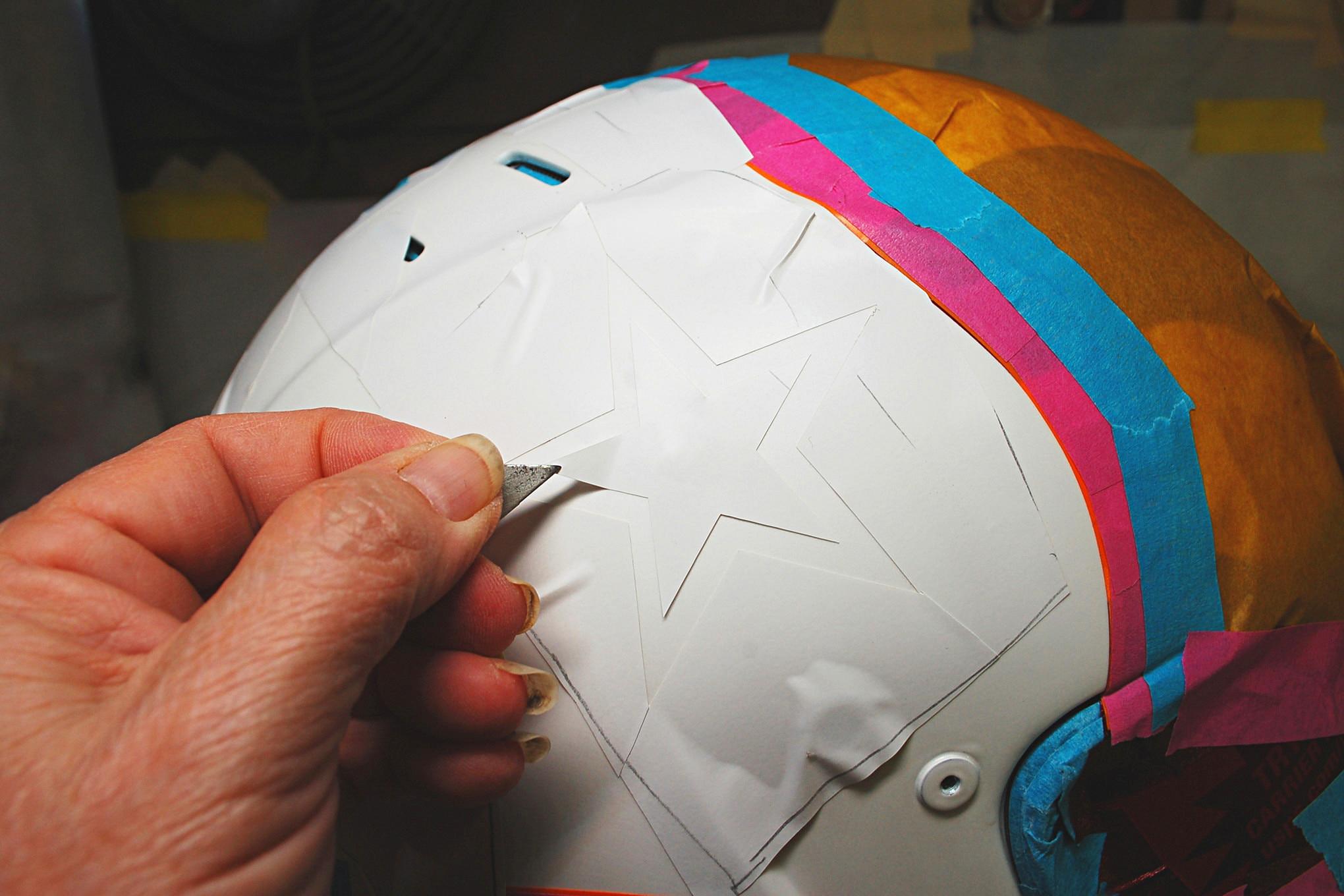 011 Helmet Paint Flag Stars Racequip