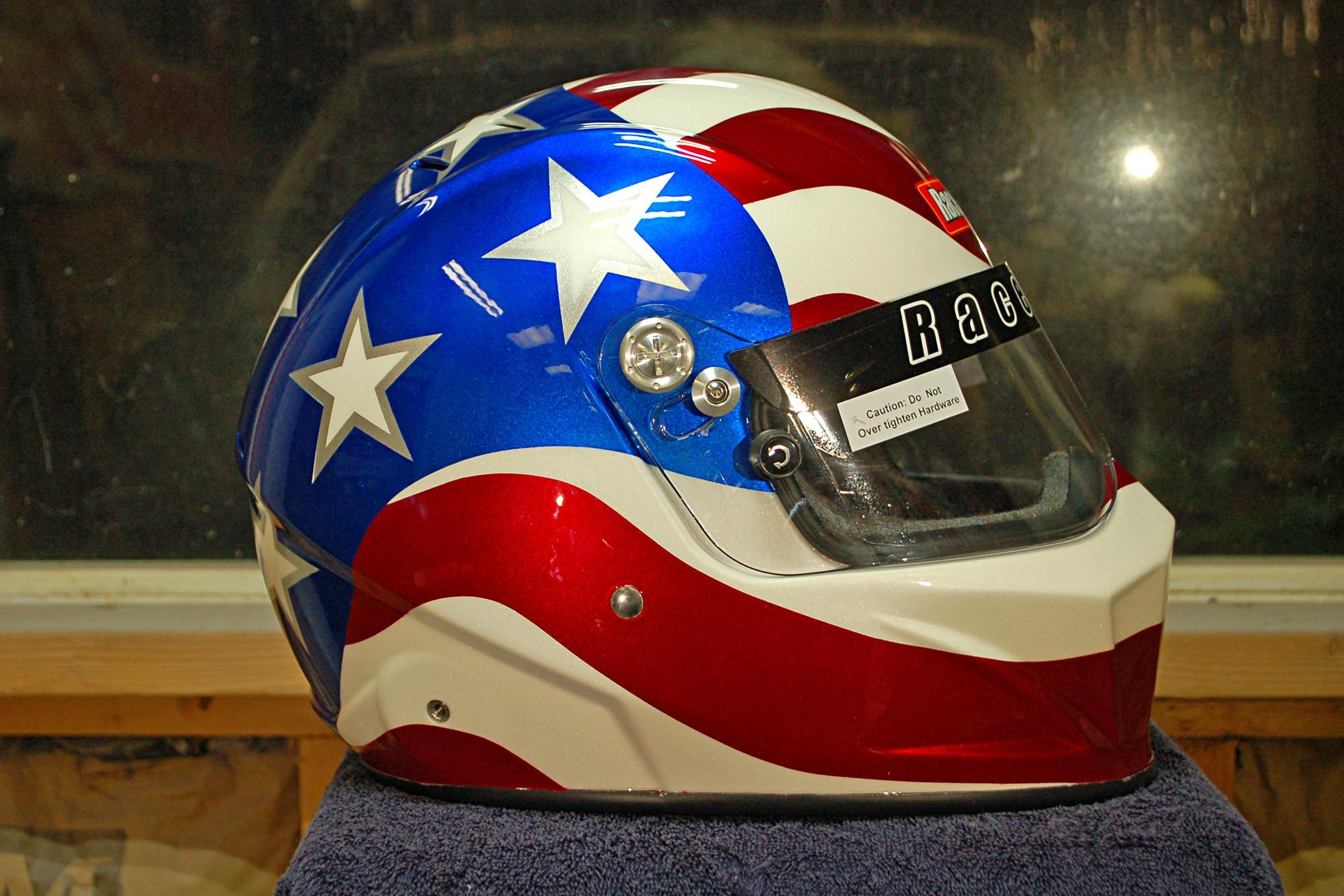 015 Helmet Paint Flag Racequip