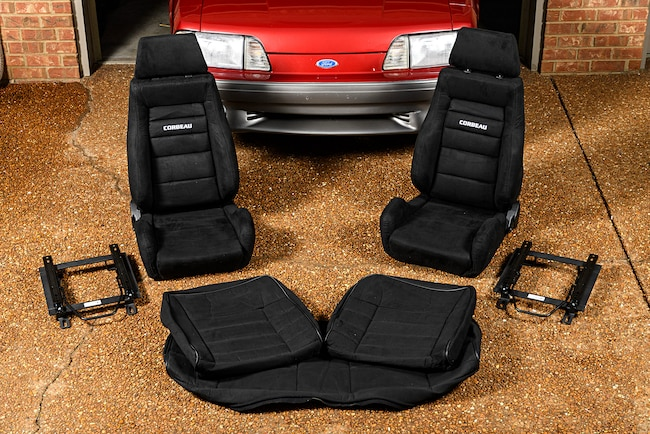 001 Corbeau GTSII Seats Fox Mustang Tracks Cover