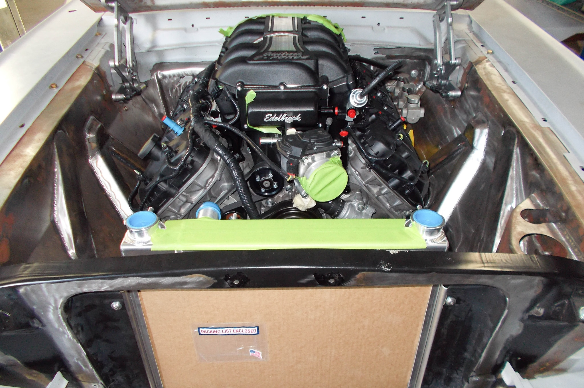 7 1965 Ford Mustang Engine Bay